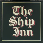 The pub sign. The Ship Inn, Sandgate, Kent