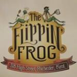 The pub sign. The Flippin' Frog, Rochester, Kent
