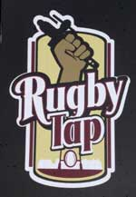 The pub sign. Rugby Tap Room, Rugby, Warwickshire