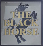 The pub sign. The Black Horse, Tring, Hertfordshire
