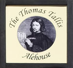 The pub sign. The Thomas Tallis Alehouse, Canterbury, Kent