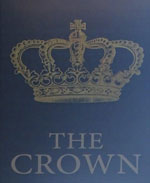 The pub sign. The Crown, East Greenwich, Greater London