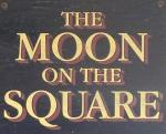 The pub sign. The Moon on the Square, Basildon, Essex