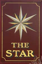 The pub sign. The Star, Gosport, Hampshire