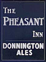 The pub sign. Pheasant Inn, Toddington, Gloucestershire