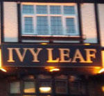 The pub sign. Ivy Leaf, Dartford, Kent