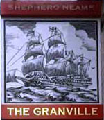 The pub sign. The Granville, Lower Hardres, Kent