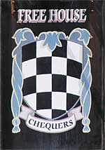The pub sign. The Chequers, Challock, Kent