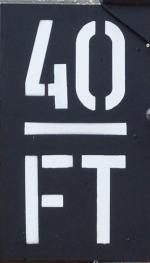 The pub sign. 40FT Brewery Taproom, Hackney, Greater London