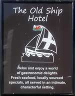 The pub sign. The Old Ship Hotel, Padstow, Cornwall