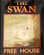 The pub sign. The Swan, Ashford, Kent