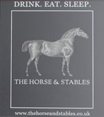 The pub sign. Horse & Stables, Waterloo, Central London