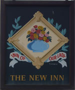 The pub sign. The New Inn, Minster (Thanet), Kent