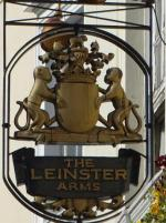 The pub sign. Leinster Arms, Bayswater, Central London