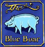 The pub sign. The Blue Boar, Leicester, Leicestershire