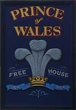 The pub sign. Prince of Wales, Hoath, Kent