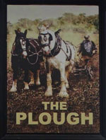 The pub sign. The Plough, East Dulwich, Greater London