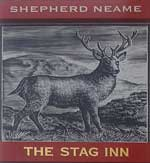 The pub sign. The Stag Inn, Hastings, East Sussex