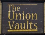 The pub sign. The Union Vaults, Chester, Cheshire