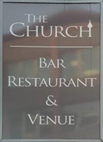 The pub sign. The Church, Chester, Cheshire