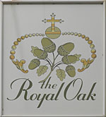The pub sign. The Royal Oak, Blean, Kent