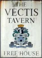 The pub sign. The Vectis Tavern, Cowes, Isle of Wight