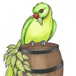 The pub sign. The Bird & Barrel, Barnehurst, Greater London
