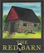 The pub sign. The Red Barn, Barnehurst, Greater London