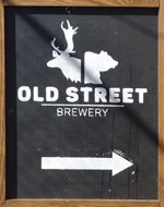 The pub sign. Old Street Brewery & Taproom, Bethnal Green, Greater London