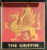 The pub sign. The Griffin, Brentford, Greater London