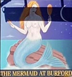 The pub sign. The Mermaid, Burford, Oxfordshire