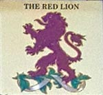 The pub sign. The Red Lion, Northmoor, Oxfordshire