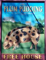 The pub sign. The Plum Pudding, Milton, Oxfordshire