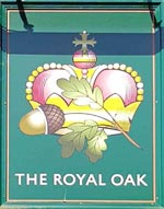 The pub sign. The Royal Oak, Tilehurst, Berkshire