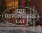 The pub sign. The Devonshire Cat, Sheffield, South Yorkshire