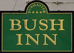 The pub sign. Bush Inn, Lower Gornal, West Midlands