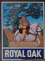 The pub sign. Royal Oak, Drimpton, Dorset