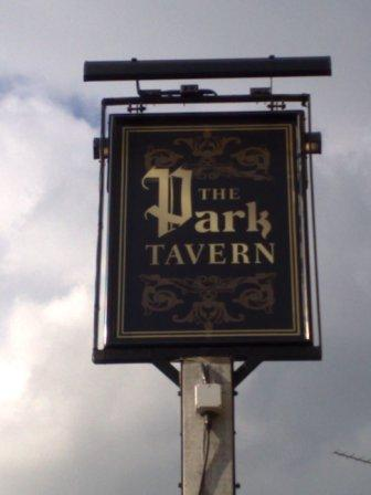 The pub sign. The Park Tavern, Eltham, Greater London