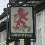 The pub sign. The Red Lion, Bromley, Greater London