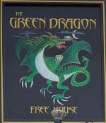 The pub sign. Green Dragon, Ryhall, Rutland