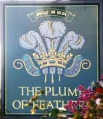 The pub sign. The Plume of Feathers, Greenwich, Greater London
