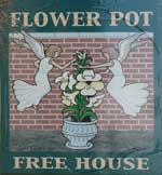 The pub sign. The Flower Pot, Maidstone, Kent