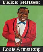 The pub sign. Louis Armstrong, Dover, Kent