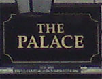 The pub sign. The Palace, Leeds, West Yorkshire